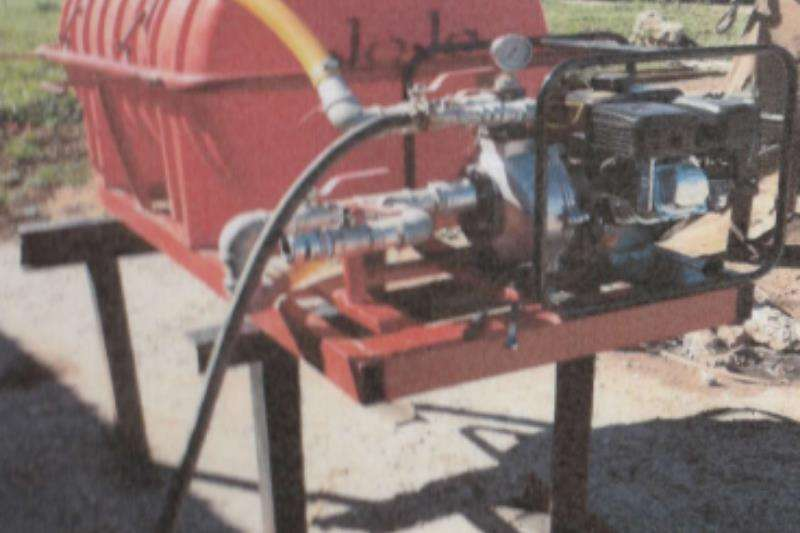 Bosvreter Agricultural trailers Water tankers 500L Bakkie Eenheid Vuurvegter