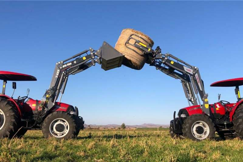 Case 4WD tractors Case JX 95 4x4 With Metal Fach quick hitch Loader Tractors
