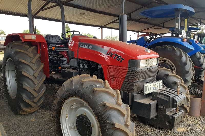 Case Tractors Four Wheel Drive Tractors JX75T with papers and new tyres