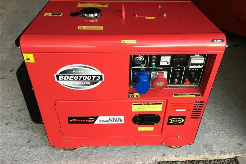 Diesel generator 6.3kVA Bulldog Bde6700T3 Silent 3 Phase Diesel Gen