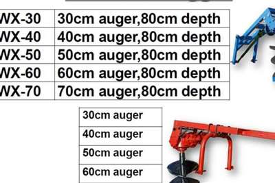 New Post Hole Digger, Augers Available 30 70cm Digger