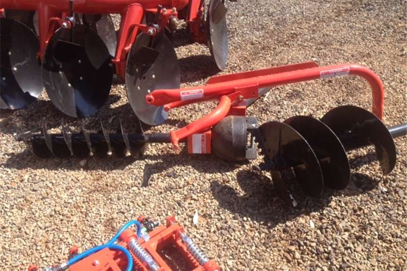 Red JBH Post Hole Digger / Grondboor (250mm + 450m Digger