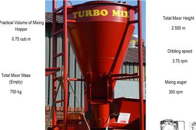 Drotsky TURBO MIX   ORBITAL SCREW VERTICAL MIXER Haymaking and silage