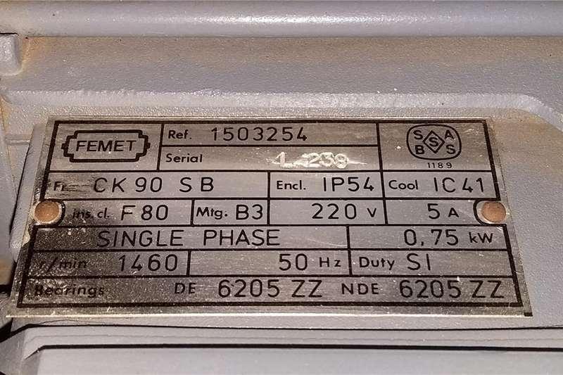 0.75Kw Electric motor (NEW) Electric motors / elektriese motors