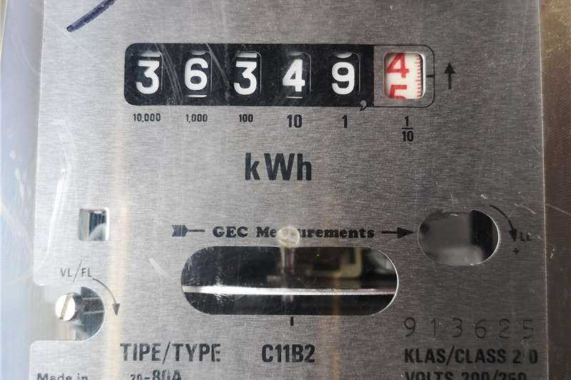 Electrical Used Single Phase KWatt Hour meters Farming spares
