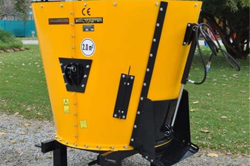 Feed Mixers Vertical Feed Mixers S2334 Yellow Soilmaster Vertical Feed Mixer 2 Cube