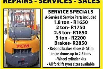 Forklift Service Promotion Forklift