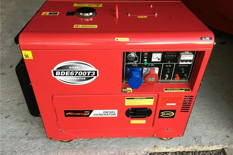 Generator Diesel generator 6.3kVA Bulldog Bde6700T3 Silent 3 Phase Diesel Gen