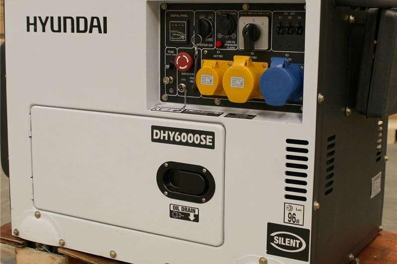 Generator Diesel generator Electric Start Hyundai DHY6000SE Single Phase Dies