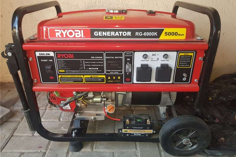 Generator Petrol generator RYOBI Generator RG 6900K 5000 Watt