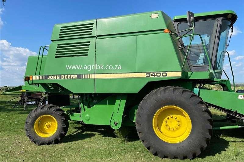 Grain harvesters John Deere 9400 Harvesting equipment