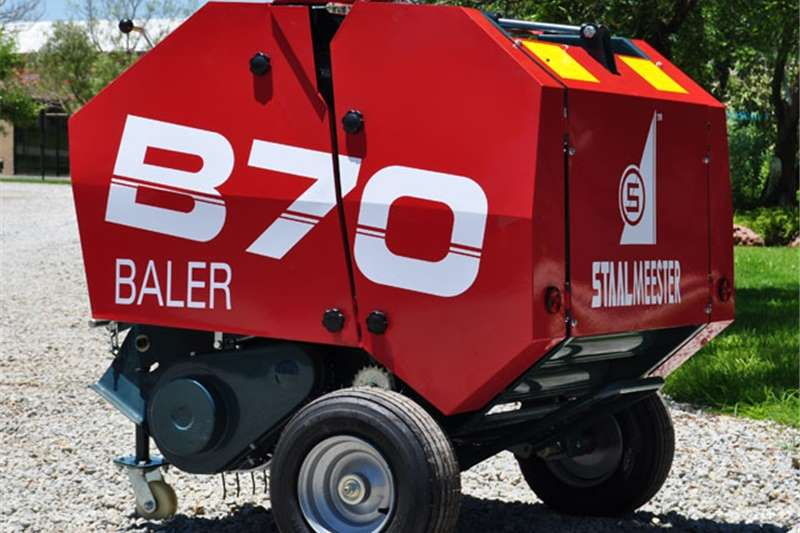 Hay and forage Balers S2336 Red Staalmeester B70 Mini Round Baler New Im