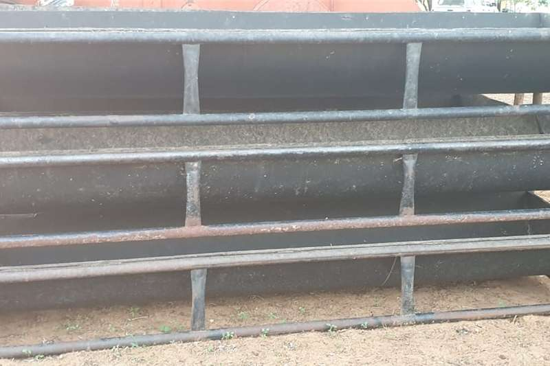 Cattle feeding troughs Haymaking and silage