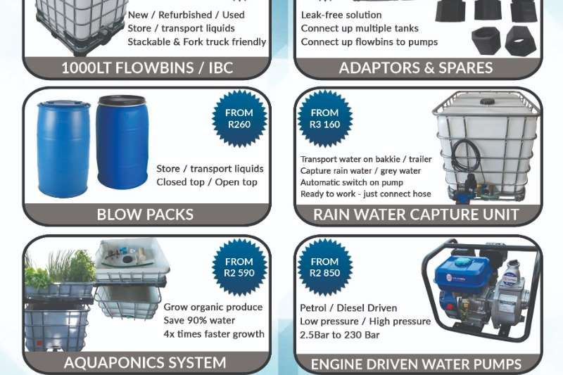 Automation New 1000L Water Transport Unit 220/ Water Saver Irrigation
