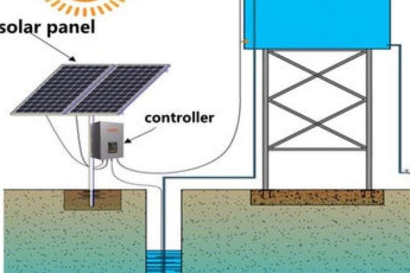 Irrigation pumps 30 000L/h solar borehole pump Irrigation