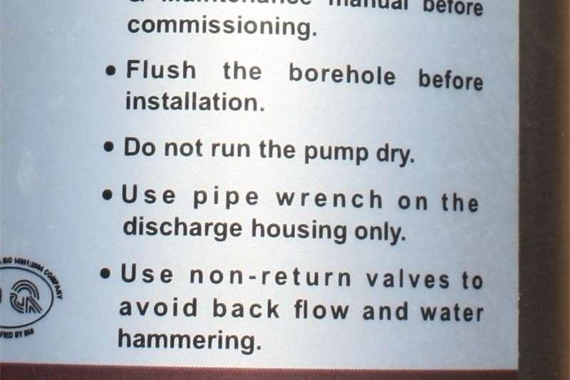 Irrigation pumps BOREHOLE PUMP (SUBMERSIBLE) NEW Irrigation