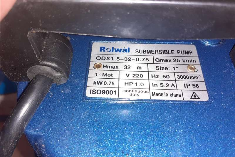 Irrigation pumps Rolwal Submersible pump Irrigation