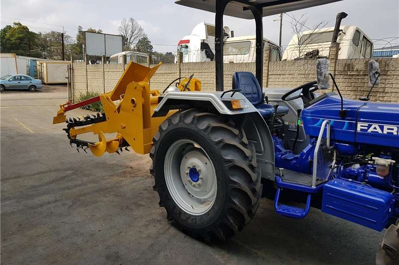 Irrigation pumps Trenching implement. Tractor mounted chain trenche Irrigation