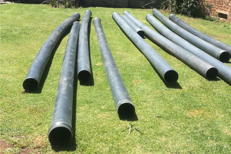 Pipes and fittings 9 x plastic PVC pipes for sale. 6 metre x 200 mm w Irrigation
