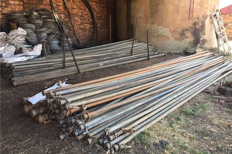 Pipes and fittings Gou koppel pype 6m + sprinkler staanders Irrigation
