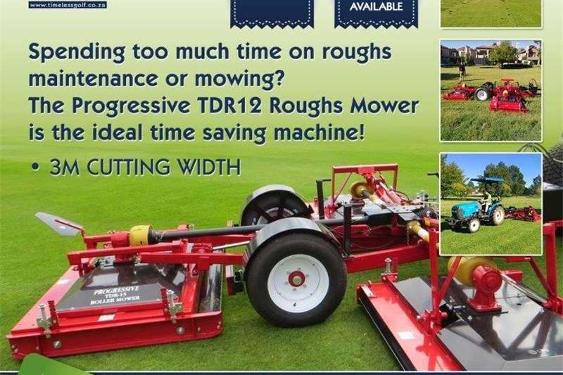Lawnmowers TDR12 Progressive Turf Rotor Mower 3 Deck Lawn equipment