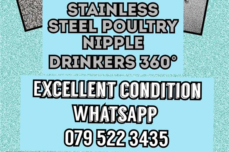 Feeding systems Stainless Steel poultry drinking nipples 360° Livestock