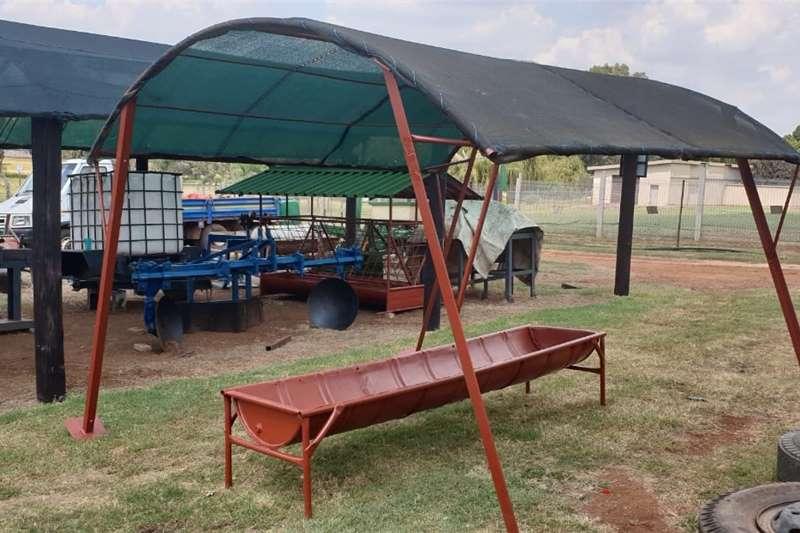 Feeding systems voerbak met skadunet 3 meter Livestock