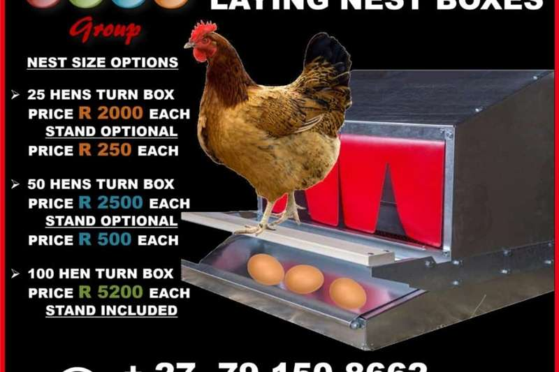Livestock handling equipment Livestock crushes and equipment Egg Roll out Laying Nest Boxes