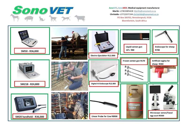 Livestock handling equipment Livestock crushes and equipment Livestock ultrasound pregnancy scanner