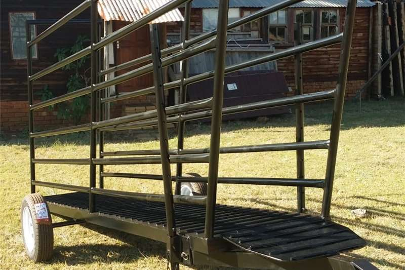 Livestock crushes and equipment Loading bay Livestock handling equipment