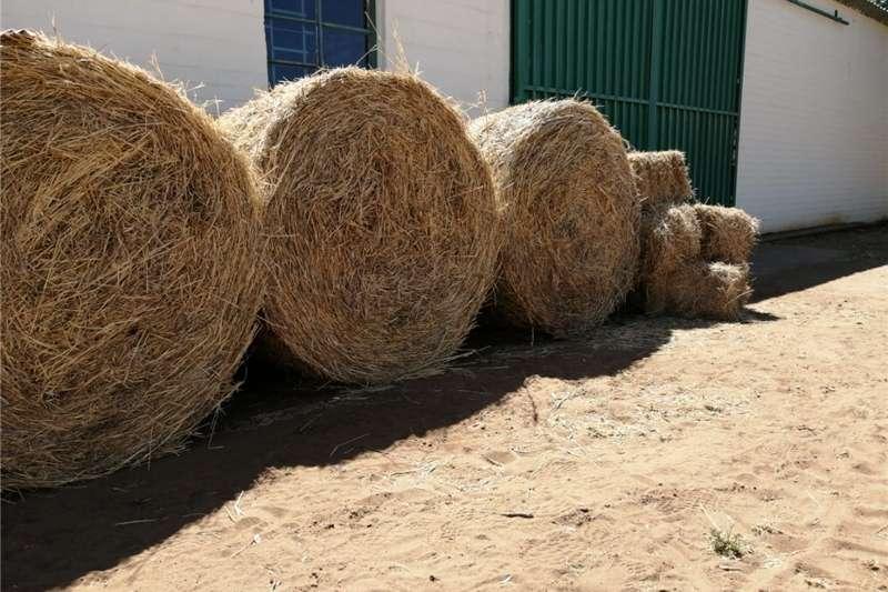 Livestock feed Bales grass buffalo blue &white Livestock