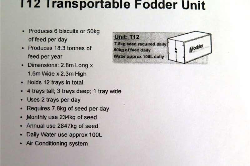 Livestock feed Fodder Solutions transportable fodder unit, model Livestock