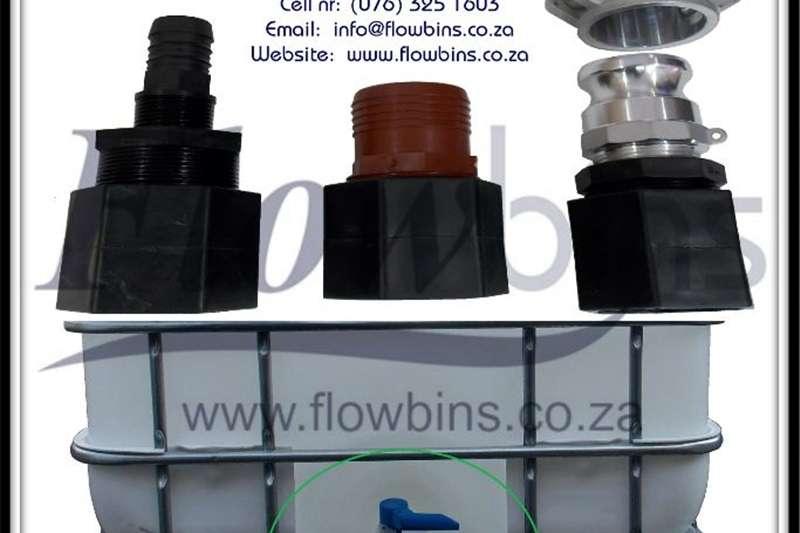 Machinery Construction Gauteng: 1000L Flowbins (IBC): Adaptors, Spares, P