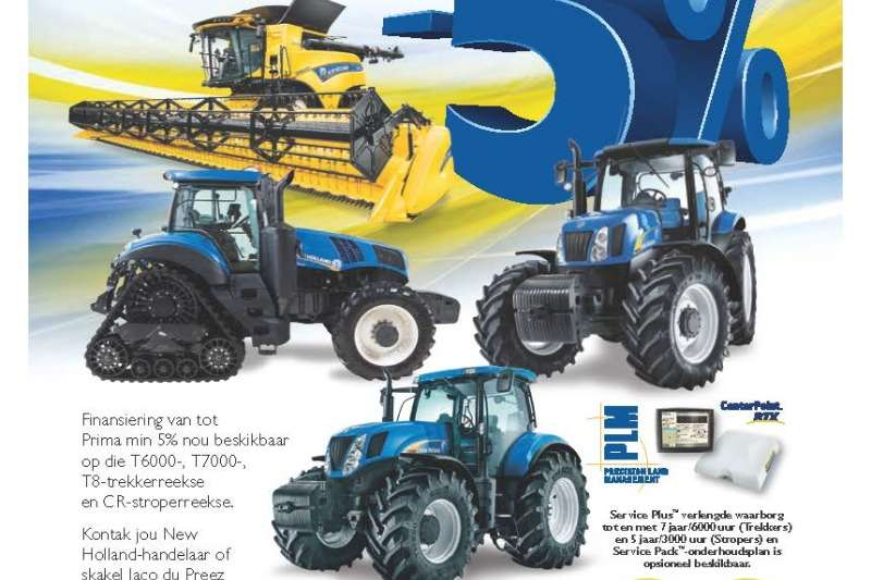 New Holland Tractors Four wheel drive tractors New Holland T6000, T7000 and T8000Series 2019
