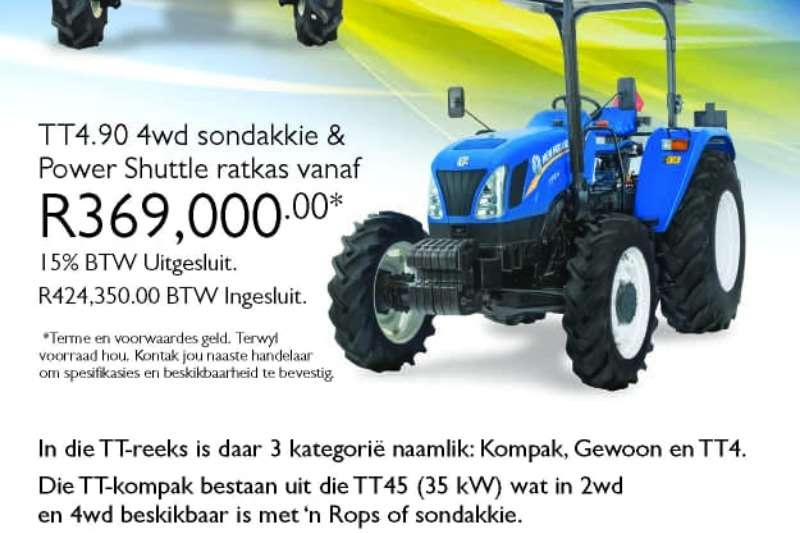 New Holland Tractors Four wheel drive tractors TT4.90 2019