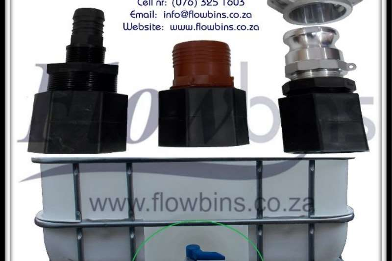 Other 1000l Flowbin Tank spares,adaptor,piping, fittings 2019