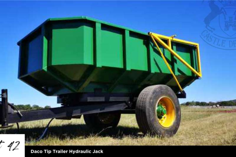 Other Tipper trailers Daco Tip Trailer Hydraulic Jack Agricultural trailers