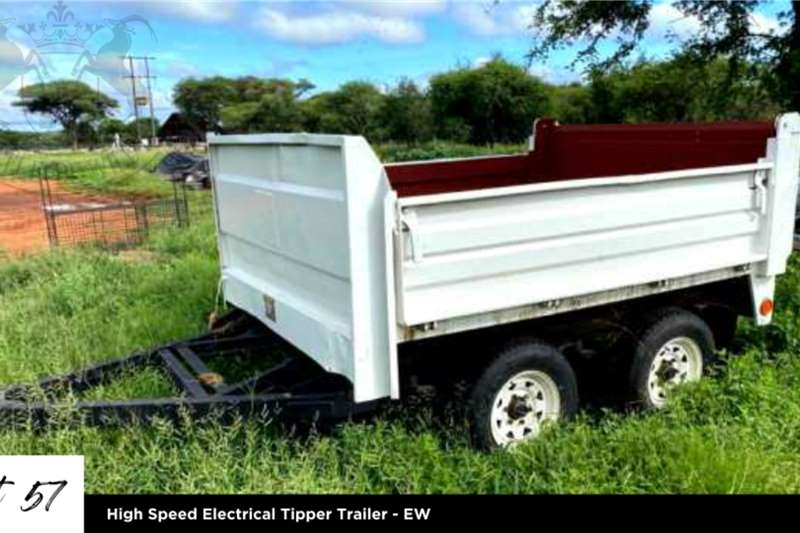 Other Tipper trailers High Speed Electrical Tipper Trailer   EW Agricultural trailers