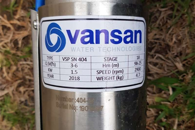 """Borehole pump: Used 1.5KW Single Phase  4"""" OilFill Other"""