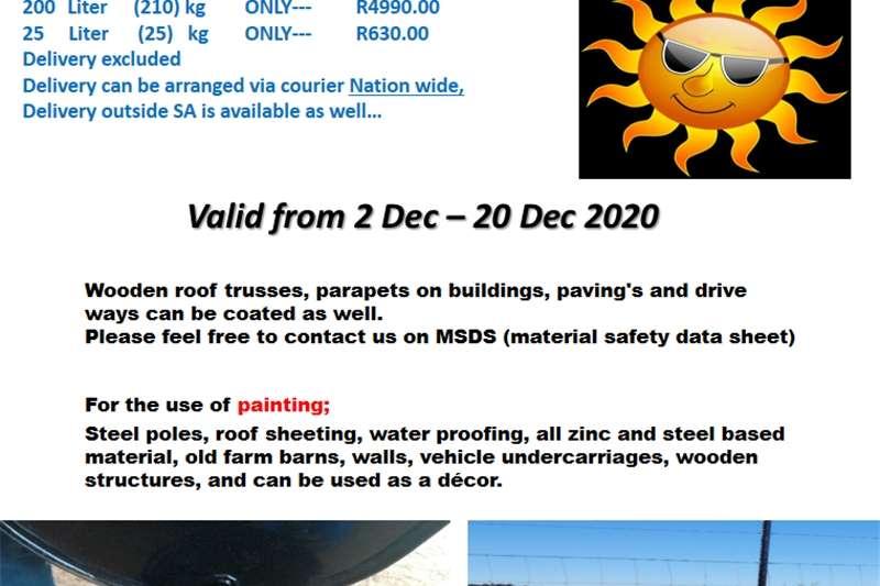 Iscor Black Bitumen Paint 210l drum Other