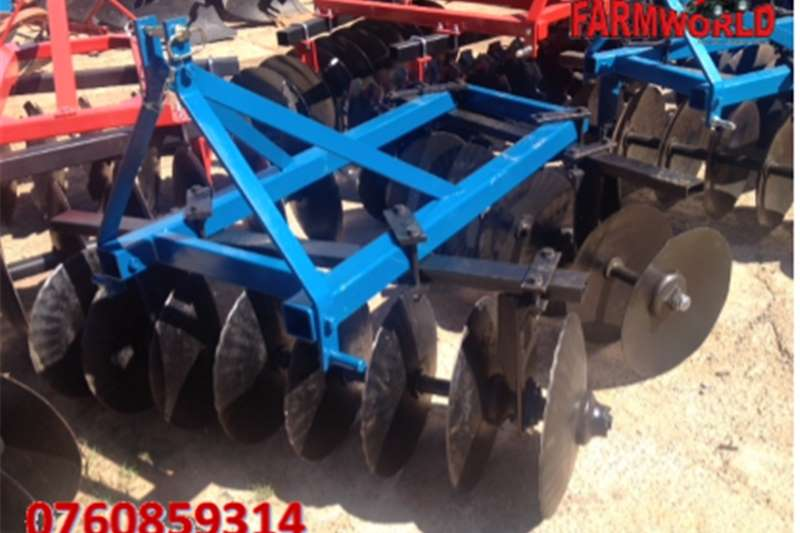 Other S2782 Blue Unknown Make 16 Disc Offset Harrow / 16