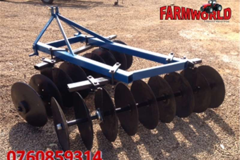 Other S2784 Blue Unknown Make 18 Disc Offset Harrow / 18