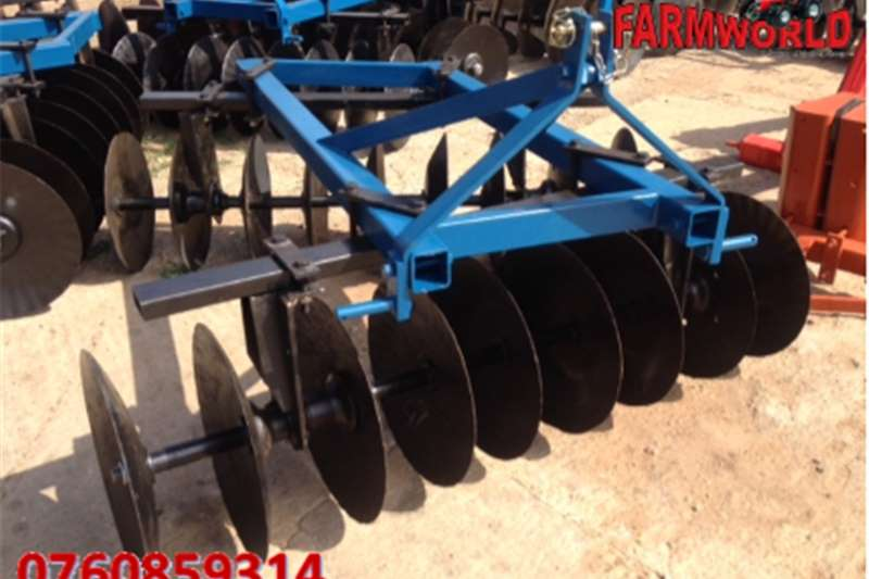 Other S2785 Blue Unknown Make 18 Disc Offset Harrow / 18