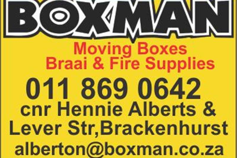 Pack house equipment Packaging material BOXMAN