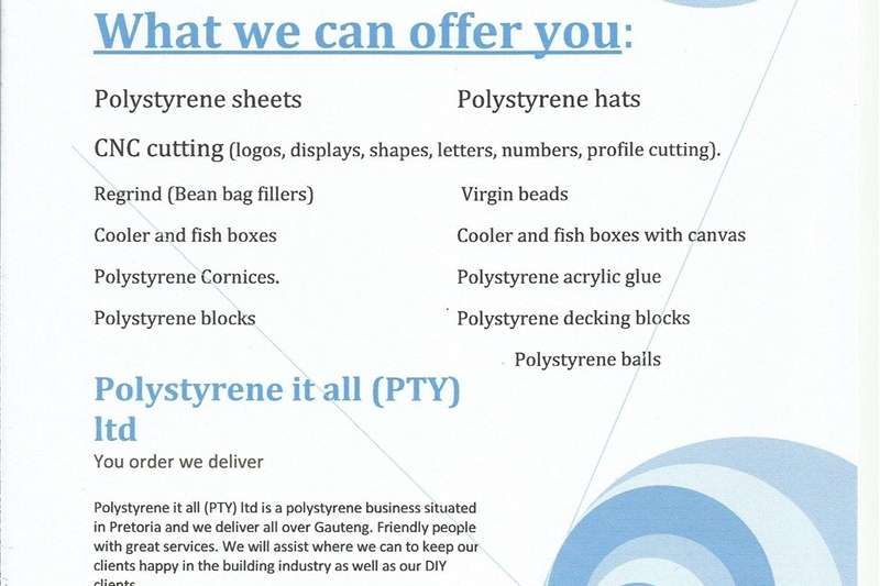 Pack house equipment Packaging material Polystyrene Sheets