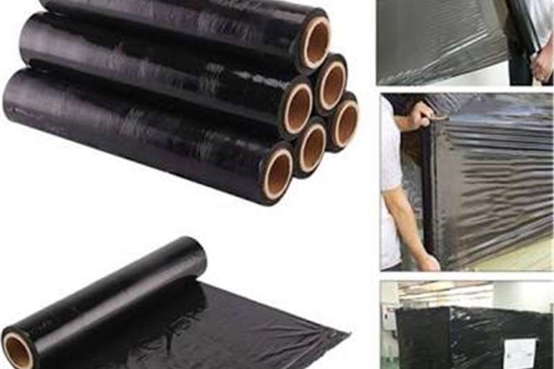 Packhouse equipment Packaging materials Black pallet wrap sold at whole sale prices