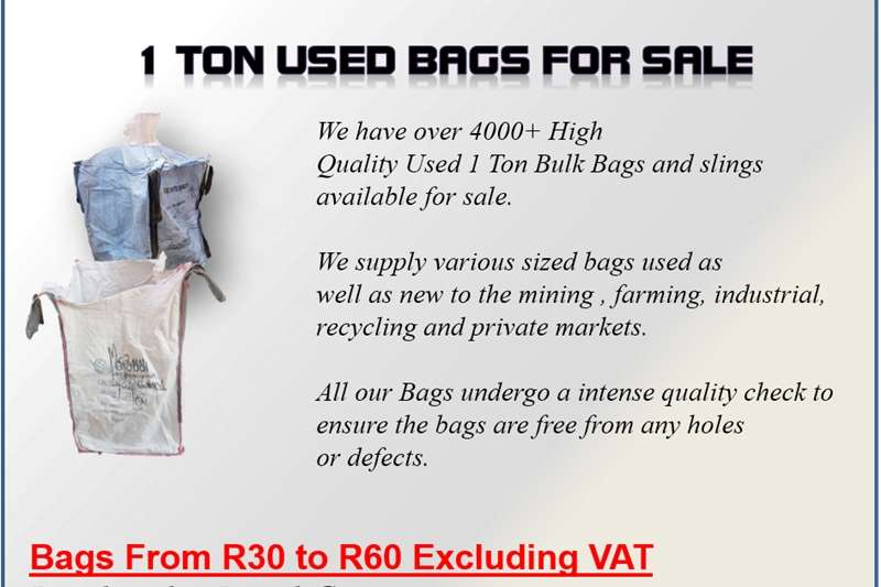 Packhouse equipment Packaging materials Quality Used 1 Ton bags For Sale