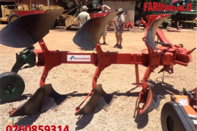 Ploughs Reversible ploughs S2733 Red Kverneland LD85 3 Furrow Reversable Plou
