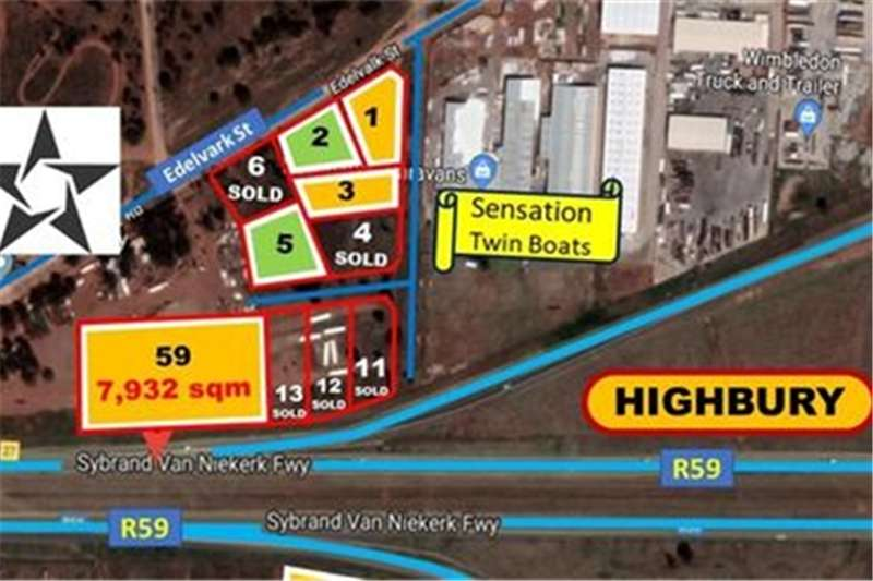 Property Vacant land 1,983 SQM STANDS FOR SALE ON (R59) (from R 199/SQM