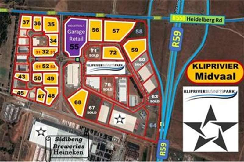 Property Vacant land 18 INDUSTRIAL STANDS (KLIPRIVIER BUSINESS PARK) (F